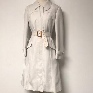 Vintage 1960's Winter White Trench Coat